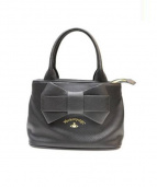 VIVIENNE WESTWOOD(ヴィヴィアン・ウエストウッド)の古着「リボンデザインハンドバッグ」|ブラック
