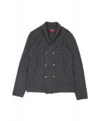 DREW&CO.(ドリューアンドコー)の古着「ダブルニットジャケット」|グレー