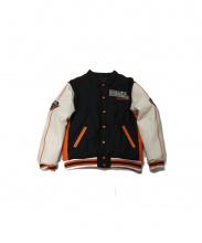 HARLEY-DAVIDSON(ハーレーダビットソン)の古着「リバーシブルボンバージャケット」 ブラック×オレンジ