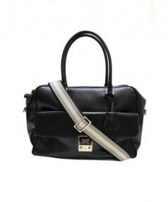 ANYA HINDMARCH(アニヤ・ハインドマーチ)の古着「2WAYハンドバッグ」|ブラック