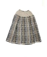 mina perhonen(ミナ ペルホネン)の古着「チュールスカート」|ベージュ