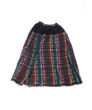 mina perhonen(ミナ ペルホネン)の古着「チュールスカート」|ネイビー
