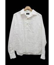 GUY ROVER(ギローバー)の古着「ナノユニバース別注リネンプルオーバーシャツ」|ホワイト