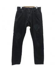 DENIM BY VANQUISH & FRAGMENT(デニムバイバンキッシュ&フラグメント)の古着「Remake tapered corduroy pants」|ブラック