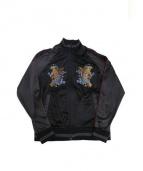 SATORI(サトリ)の古着「スーベニアトラックトップ」|ブラック