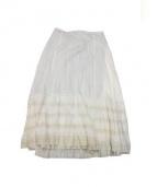 LAppartement(アパルトモン)の古着「レースマキシスカート」|ベージュ