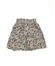 leur logette(ルールロジェット)の古着「ローズジャガードスカート」 ブラック×ベージュ
