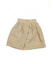 leur logette(ルールロジェット)の古着「ローズジャガードスカート」 ベージュ