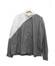 ANSEASON ANREALAGE(アンシーズンアンリアレイジ)の古着「light & shadow shirt」 グレー×ブラウン