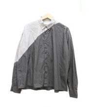 ANSEASON ANREALAGE(アンシーズンアンリアレイジ)の古着「light & shadow shirt」|グレー×ブラウン