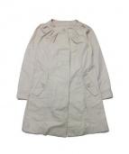 MAX&Co.(マックスアンドコ)の古着「ノーカラーコート」 ベージュ