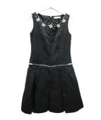 Maglie par ef-de(マーリエパーエフデ)の古着「ノースリーブワンピース」|ブラック