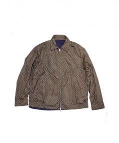BEAMS(ビームス)の古着「リバーシブルジャケットナイロンブルゾン」|パープル×グリーン