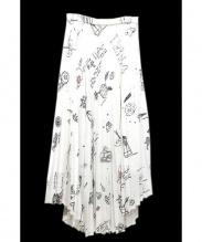 TARO HORIUCHI(タロウホリウチ)の古着「アコーディオンプリーツスカート」 ホワイト
