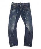 DSQUARED2(ディースクエアード)の古着「クラッシュリペア加工ケニーツイストデニム」|ブルー
