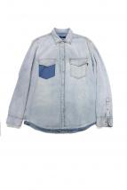 DIESEL(ディーゼル)の古着「カットオフ加工デニムシャツ」