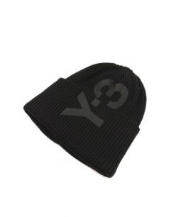 Y-3(ワイスリー)の古着「ロゴニットビーニー」|ブラック