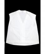 Hed Mayner(ヘド メイナー)の古着「ノースリーブシャツ」|ホワイト