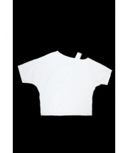 H BEAUTY&YOUTH(エイチビューティアンドユース)の古着「60/2 ONE SHOULDER DOLMAN PULLO」 ホワイト