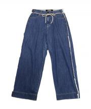 BASISBROEK(バージスブルック)の古着「サイドフリンジワイドデニム」|ウォッシュドブルー