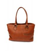 土屋鞄(ツチヤカバン)の古着「トーンオイルヌメミディアムトート」 ブラウン