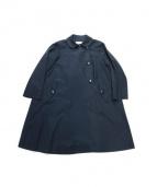 ADIEU TRISTESSE(アデュートリステス)の古着「Aラインコート」|ネイビー