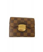 LOUIS VUITTON(ルイ・ヴィトン)の古着「3つ折り財布」 ブラウン