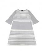 TO BE CHIC(トゥビーシック)の古着「セイシェルニットドレス」|グレー×ホワイト