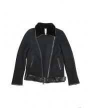GIORGIO BRATO(ジョルジオ ブラット)の古着「ムートンライダースジャケット」 ブラック