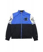 STUSSY×Champion(ステューシー×チャンピオン)の古着「コラボナイロンジャケット」|ブルー