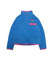 VOTE MAKE NEW CLOTHES(ヴォート メイク ニュー クローズ)の古着「フリースジャケット」|ブルー×ピンク