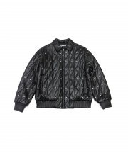 SUPREME(シュプリーム)の古着「quilted studded leather jacket」 ブラック