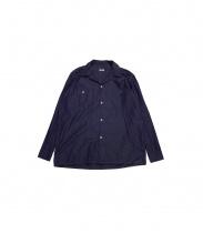COMOLI(コモリ)の古着「オープンカラーシャツ」|パープル
