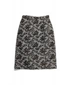 JUSGLITTY(ジャスグリッティー)の古着「チェックジャガードタイトスカート」|ブラウン