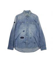 Ron Herman(ロンハーマン)の古着「クラッシュ加工デニムシャツ」|サックスブルー