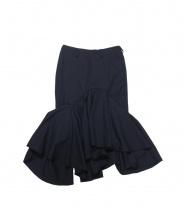 FACETASM(ファセッタズム)の古着「デザインスカート」|ネイビー