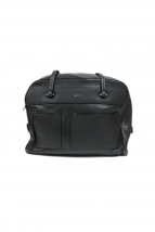 agnes b voyage(アニエスベーボヤージュ)の古着「レザートートバッグ」|ブラック
