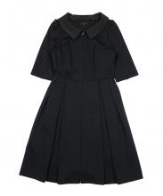 TO BE CHIC(トゥビーシック)の古着「リップルジャージードレス」|ブラック