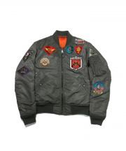 AVIREX(アヴィレックス)の古着「FAR EAST CRUISE MA-1」|セージグリーン