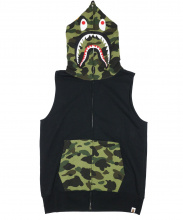 A BATHING APE(ア ベイシング エイプ)の古着「1ST CAMO SHARK SLEEVELESS ZIP 」