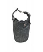ISAMU KATAYAMA BACKLASH(イサムカタヤマ・バックラッシュ)の古着「レザーヒップバッグ」|ブラック