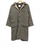 Yarmo(ヤーモ)の古着「ヘリンボーンウールコート」|グレー