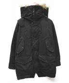 ARCTIC EXPLORER(アークティックエクスプローラー)の古着「ファー付ダウンジャケット」|ブラック