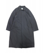 YAECA(ヤエカ)の古着「STAINCOLLAR COAT LONG」|ダ-クネイビー