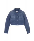 MM6(エムエムシックス)の古着「ユーズド加工ショート丈ジャケット」|ブルー