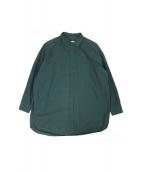 Dulcamara(ドゥルカマラ)の古着「トレンチシャツ」|グリーン