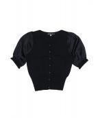 MS GRACY(エムズグレイシー)の古着「袖切替カーディガン」 ブラック