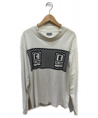 C.E(シーイー)の古着「BOLDロゴタートルネックロングスリーブTシャツ」|ホワイト