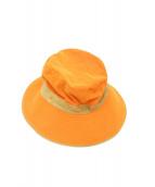 HERMES(エルメス)の古着「H刺繍ハット」|オレンジ