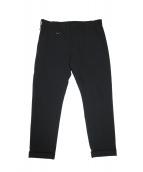 uniform experiment(ユニフォーム エクスペリメント)の古着「4WAY STRETCH CROPPED PANTS」|ブラック
